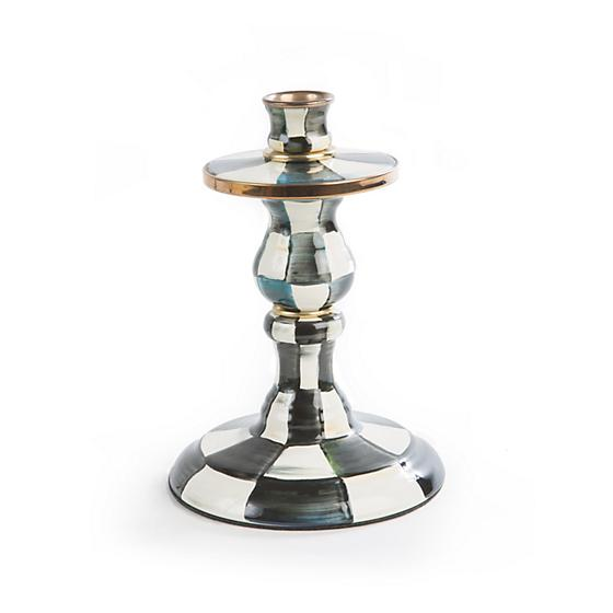 Courtly Check Enamel Candlestick - Small - House of Moseley