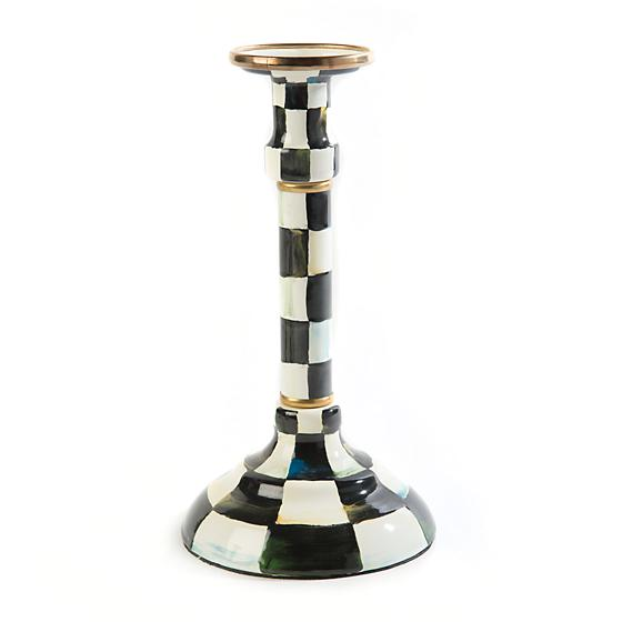 Courtly Check Enamel Candlestick - Mighty - House of Moseley