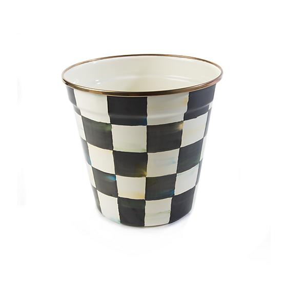 Courtly Check Enamel Garden Pot - Medium - House of Moseley