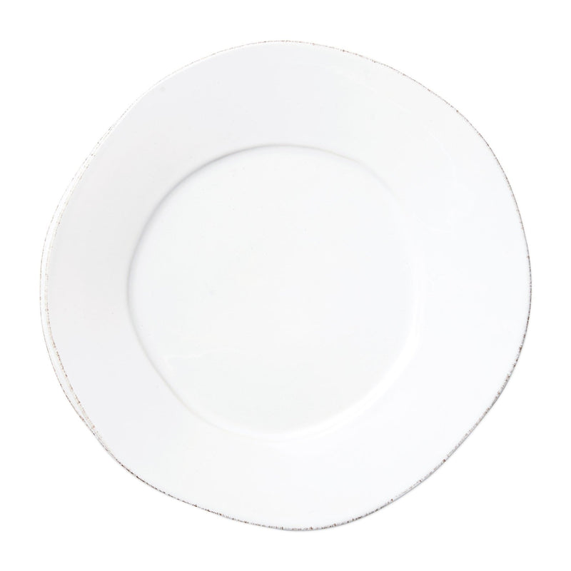 Lastra White Round Dinner Plate - House of Moseley
