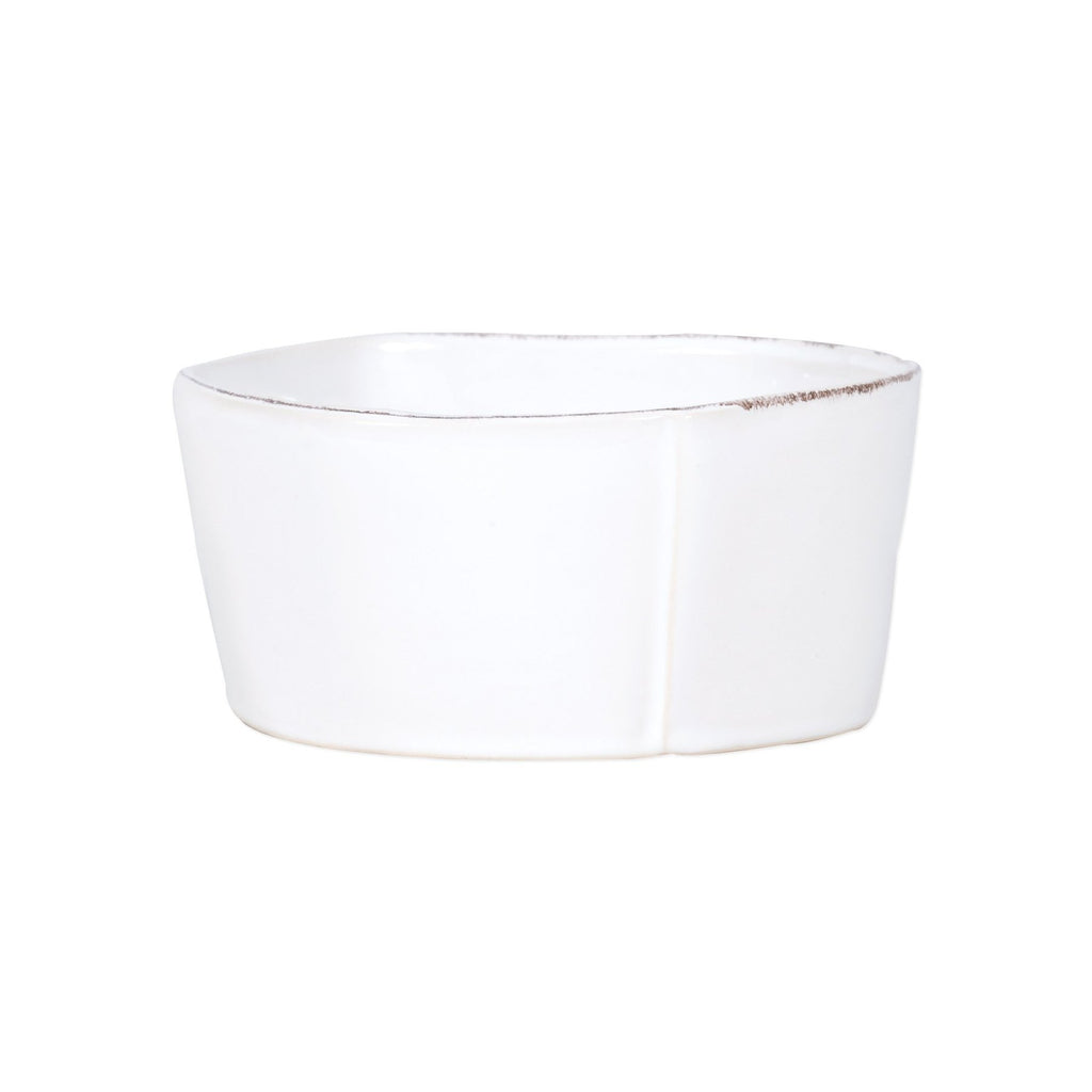 Lastra White Medium Serving Bowl - House of Moseley