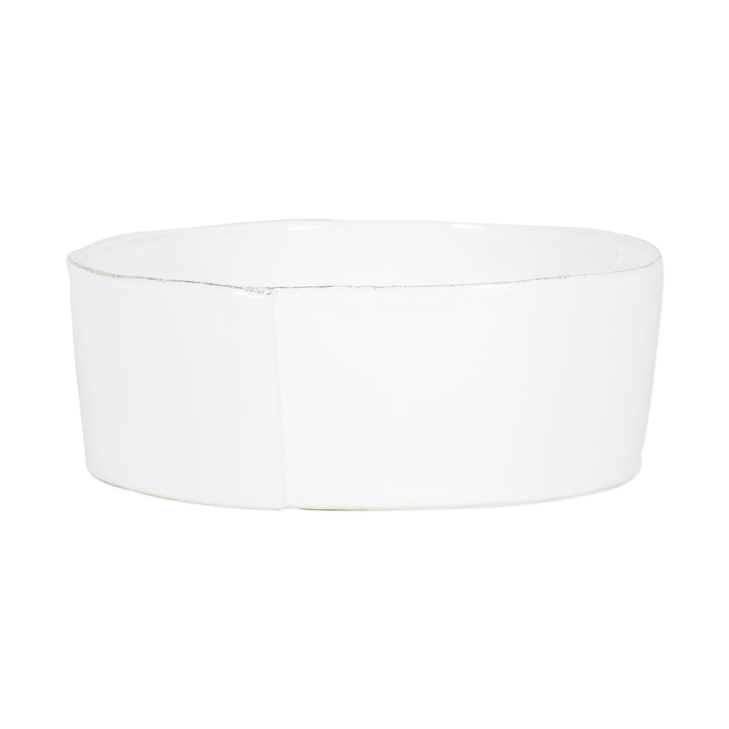Lastra White Large Serving Bowl - House of Moseley