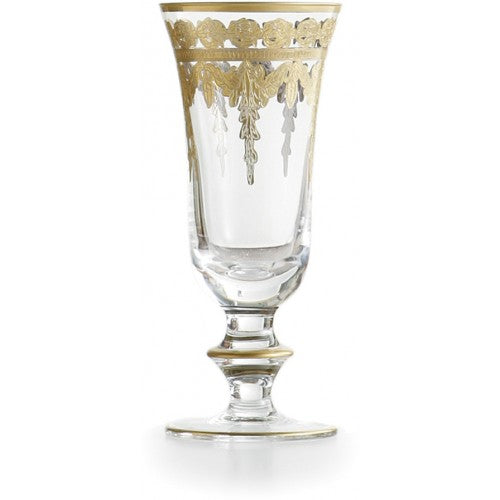 Vetro Gold Flute Glass - House of Moseley