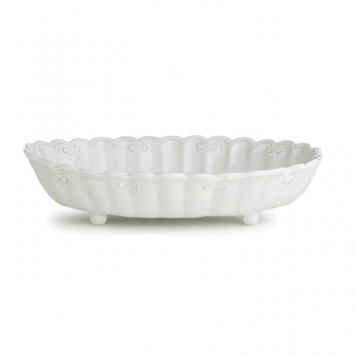Bella Bianca Ribbon Shallow Serving Bowl - House of Moseley
