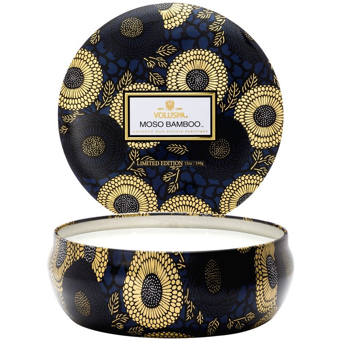 3 Wick Candle In Decorative Tin: Moso Bamboo - House of Moseley