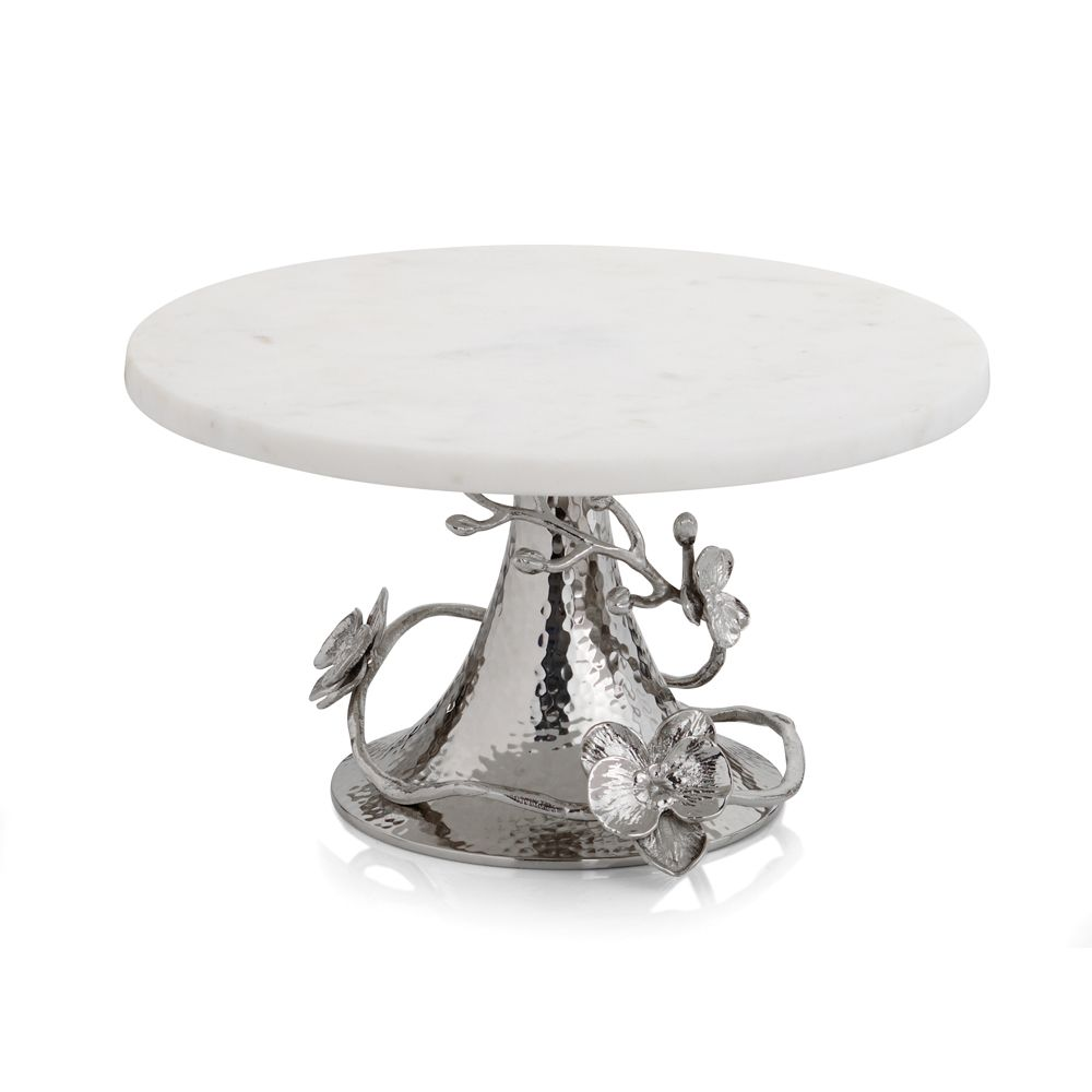 White Orchid Cake Stand - House of Moseley