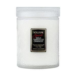 Small Jar Candle, Spiced Goji Tarocco Orange - House of Moseley