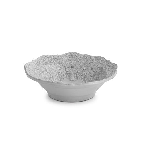 Merletto White Cereal Bowl - House of Moseley