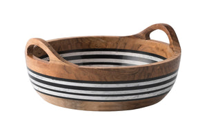 Stonewood Stripe Round Serving Bowl - House of Moseley