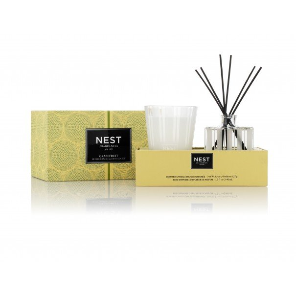 Grapefruit Petite Candle & Diffuser Set - House of Moseley