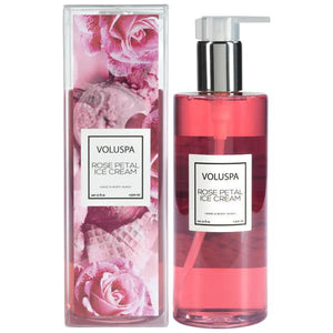 Rose Petal Ice Cream, Roses Collection Hand & Body Wash - House of Moseley