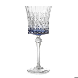 Serena Blue Wine Glass - House of Moseley
