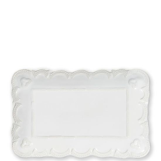 Incanto Stone White Lace Small Rectangular Platter - House of Moseley