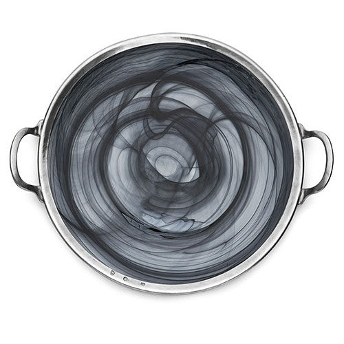 Volterra Nero Round Platter - House of Moseley