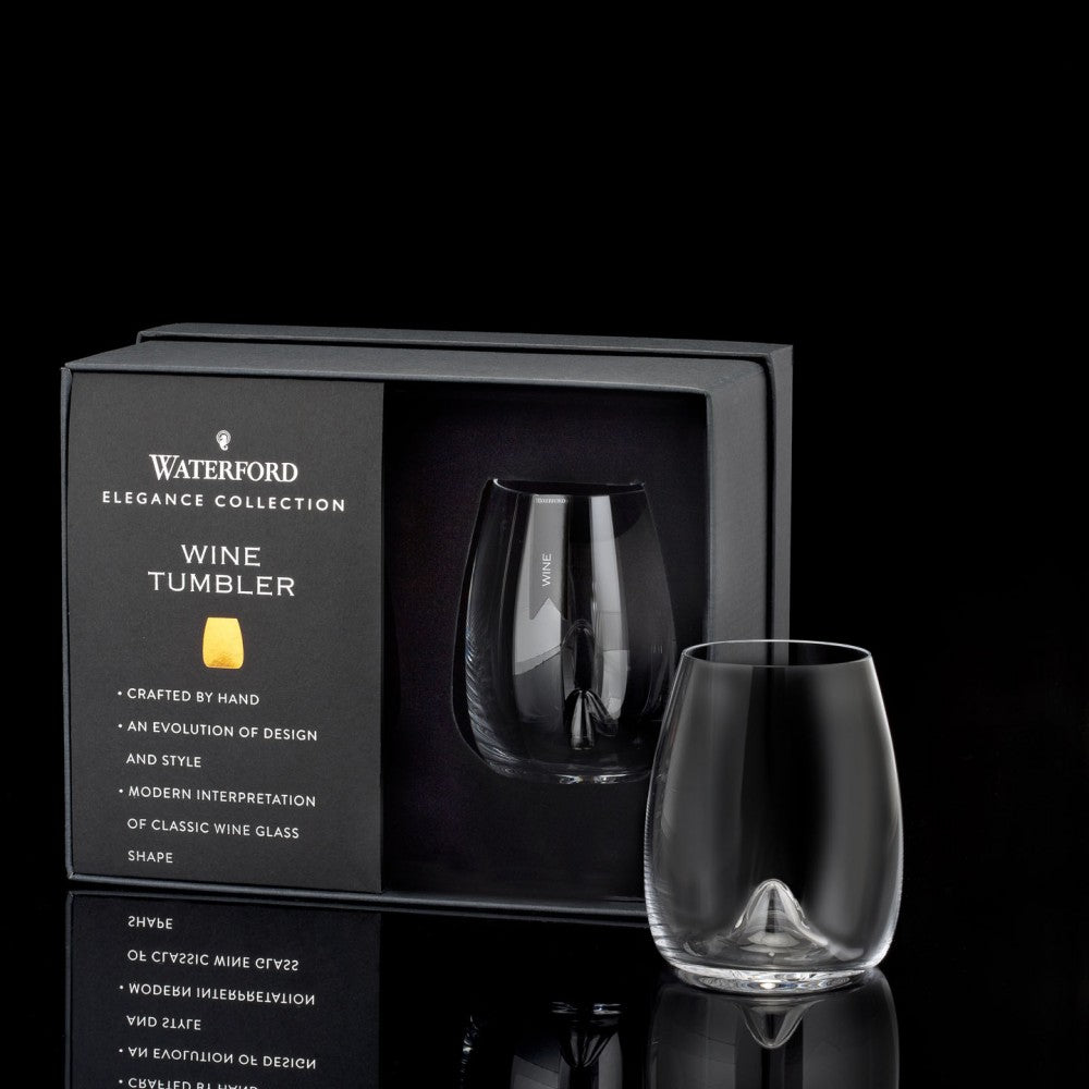 Elegance Stemless Wine Glass, Pair - House of Moseley