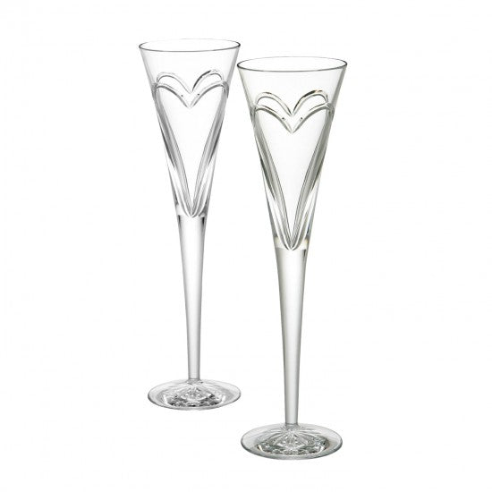 Wishes Love & Romance Toasting Flute, Pair - House of Moseley