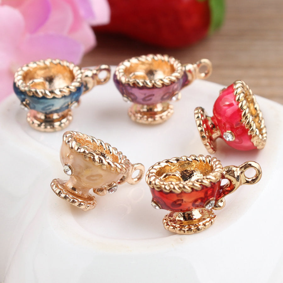20Pcs Bling Wine Cup Charms