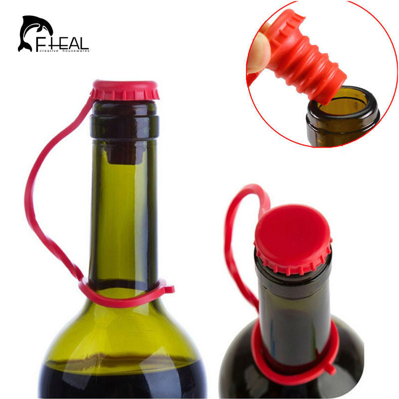 Silicone Hanging Button Wine Cork Stopper