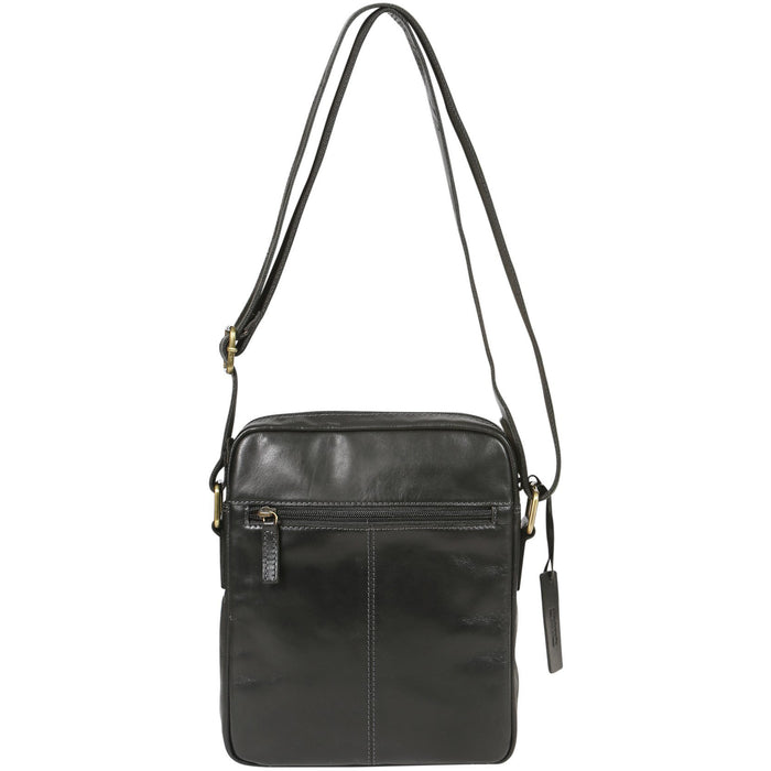 Modapelle Men's Leather Black Satchel Bag UL3898