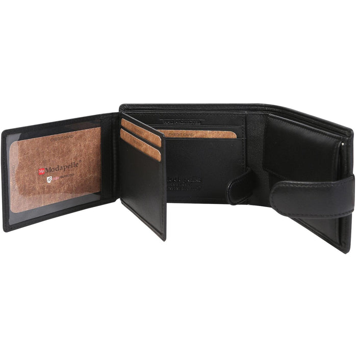 Modapelle Men's Leather Bifold Wallet 5018