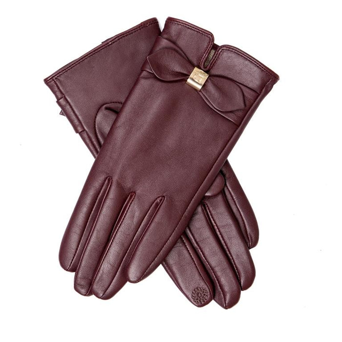 Dents Women's Leather Bow Gloves DE770044