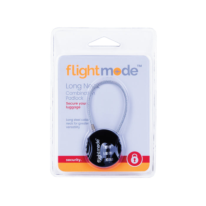 Flight Mode 3 Dial Long Neck Cable Combination Padlo FM0019