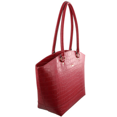 Morrissey Croc Embossed Italian Leather Tote Handbag MO2610