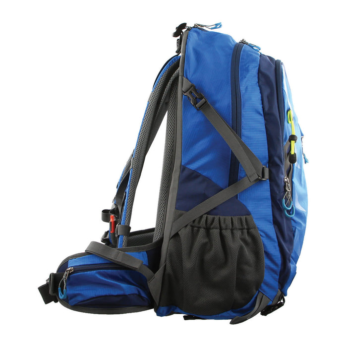 Pierre Cardin Blue Adventure Nylon Laptop Backpack