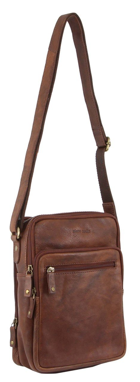 Pierre Cardin Rustic Leather Crossbody/Small Messenger Bag PC3130