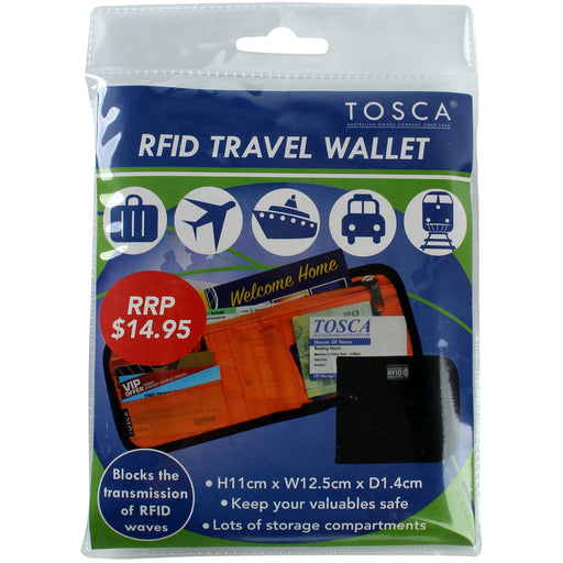 Tosca RFID Travel Wallet TCA009