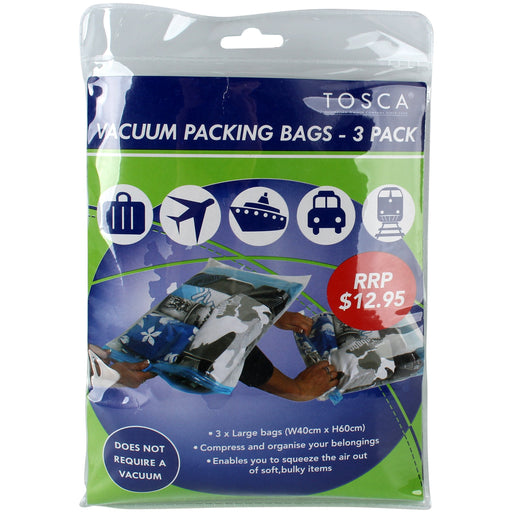 Tosca Vacuum Packing Bags - 3 Pack TCA015