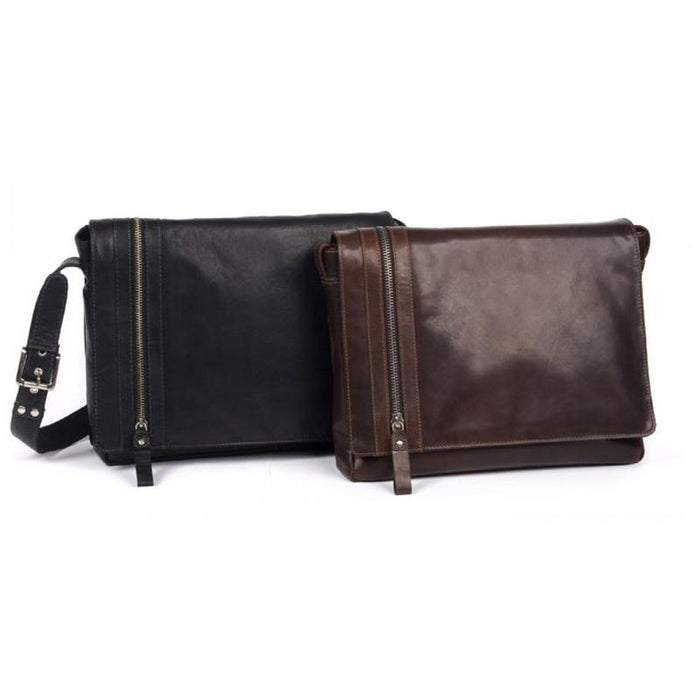 Oran Phil Leather Messenger-Satchel Bag OB23249