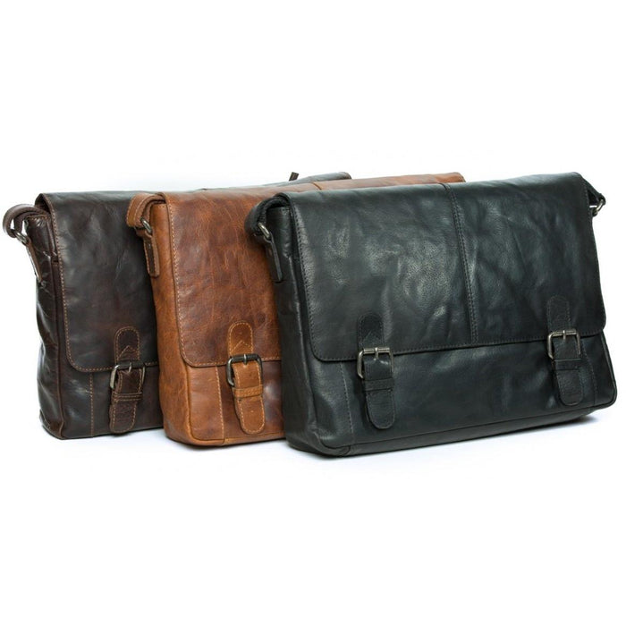 Oran Mason Vintage Leather Messenger-Satchel RH6001