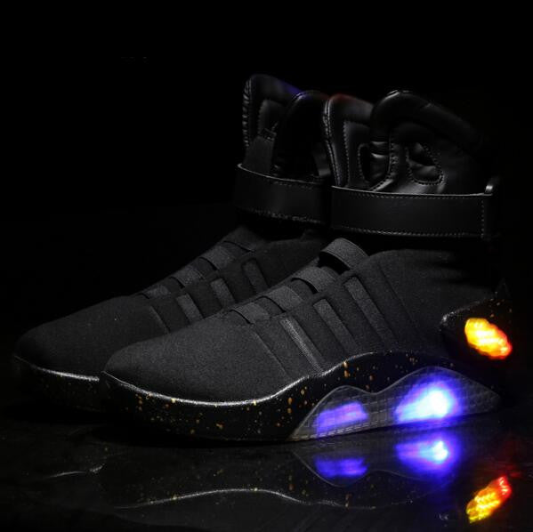 2587f69eb2a3 Back To The Future shoes Limited Edition Led Luminous Light Up Shoes In 2  Colors-