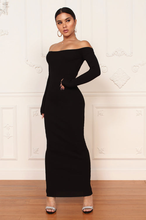 Back To Black Maxi Dress - ShopLuvB