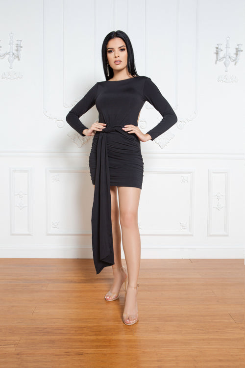 Full Flair Dress in Black - ShopLuvB
