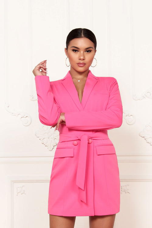 It's All Bright Blazer Dress - ShopLuvB