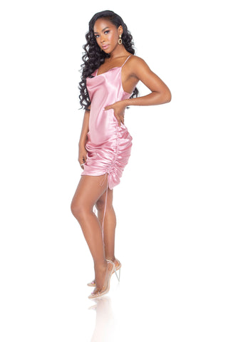 Mariah Mini Dress - Rose