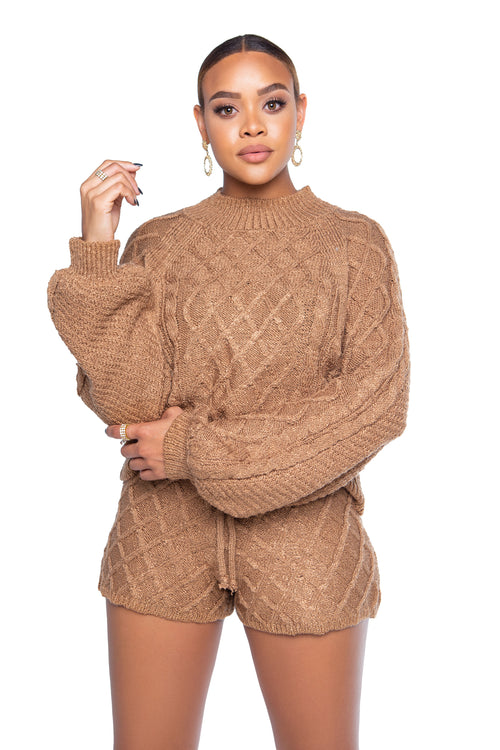 Mia Sweater - Latte - ShopLuvB
