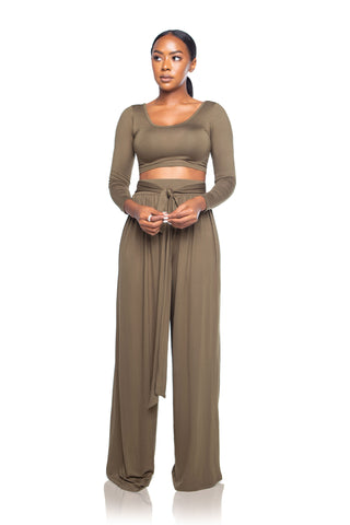 Mirihi Wide-leg Pants - Olive