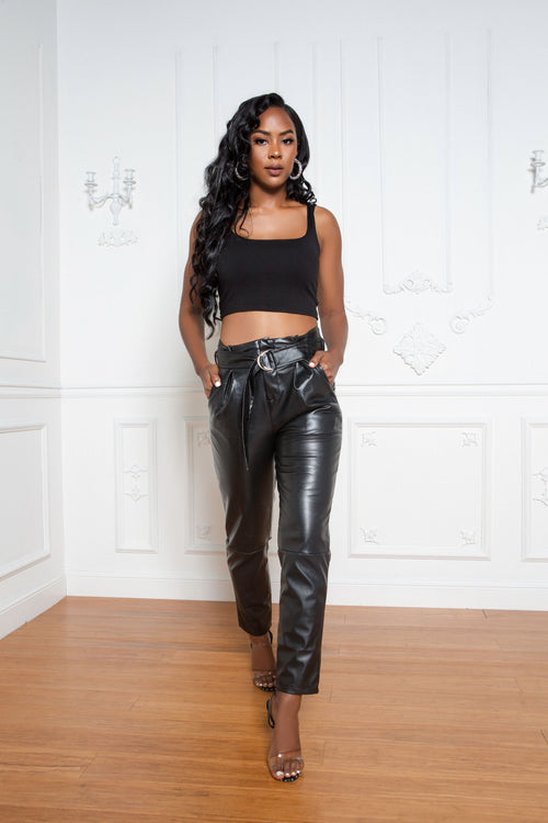 On The Go Leather Pants - ShopLuvB