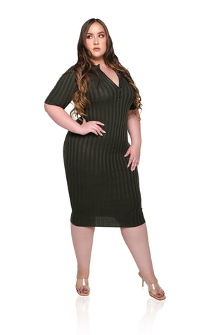 Brigitte Belted Maxi Dress - Black