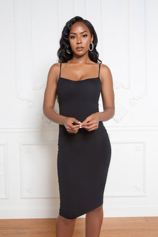Full Flair Dress in Black
