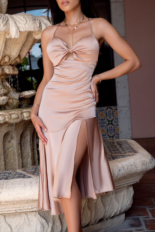 Sultry in Silk Dress - ShopLuvB