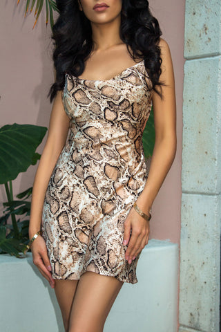 Sensual Seduction Dress in Tan