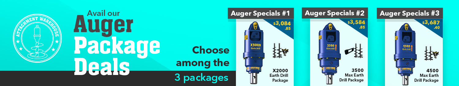 Attachment Warehouse - Auger and Auger Drive Package Deals - Promo