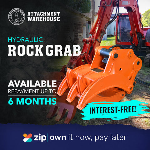 hydraulic rock grab interest free