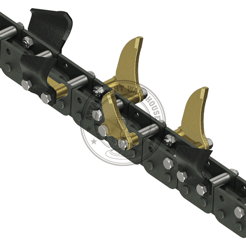 Auger Torque 200mm X 1200mm - Combination Trenching Depth Chains To Suit Mt1200 - Trencher Chains - Attachment Warehouse