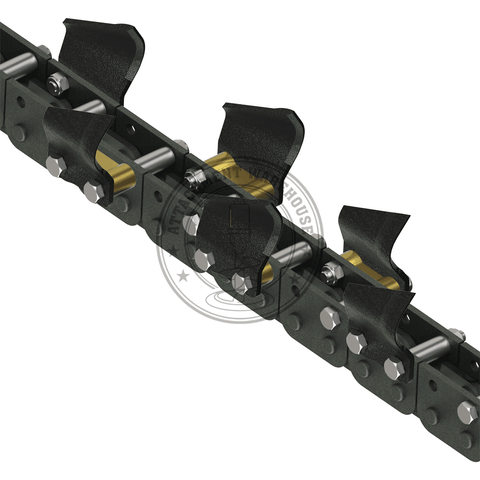 Auger Torque 250mm X 1200mm - Earth - Trenching Depth Chains To Suit Xhd1200 - Trencher Chains - Attachment Warehouse
