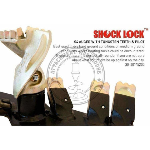 TOOTH - S4 SHOCK LOCK TUNGSTEN - Attachment Warehouse